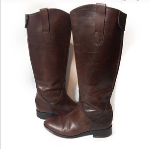 Steve Madden tall brown leather riding boots 6.5